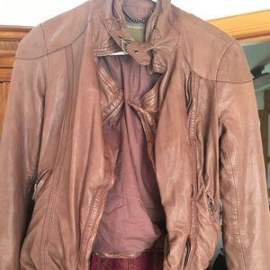 Jackets & Blazers - Mauve colored leather jacket